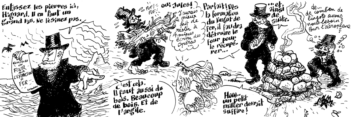 Les incroyables aventures de Jules Verne #7 : de l extraction du fer - Bande dessinée copyright JB Meybeck